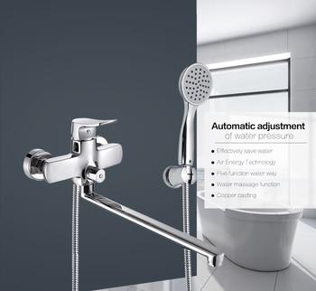 Micoe Bathroom Shower Bathtub Faucet Faucet Set Mixer Wall Mounted Waterfall Bathtub Faucet with Handheld Shower Head H-HC605 wall mount bathroom tub mixer faucet golden dual handles bathtub faucet with handheld shower