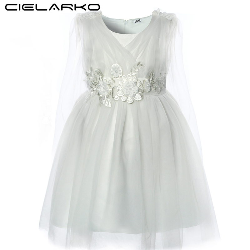 fe1874110a2 Detail Feedback Questions about Cielarko Baby Girls Party Dress Flower  Toddler Birthday Prom Dresses Summer Christening Infant Dress Design Kids  Pageant ...