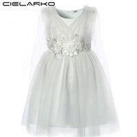 Cielarko Baby Girls Party Dress Flower Toddler Birthday Prom Dresses Summer Christening Infant Dress Design Kids Pageant Frocks