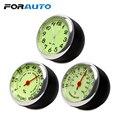 Автомобильные часы FORAUTO, термометр, гигрометр, механические украшения, кварцевые часы, светящиеся мини-часы для стайлинга автомобиля, украш...