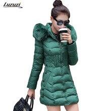 1PC Winter Jacket Women Parka Long Coats Fur Hooded Cotton Padded Winter Coat Women Jaqueta Feminina Inverno Z193