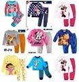 Exterior marca de ropa para niños en casa en los niños de manga larga de algodón pijama traje chándal traje de niño traje de la muchacha