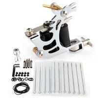 Professional Durable Style Kit Tattoo Machine Gun Needles Complete Set Equipment High Quality Grip Nozzle