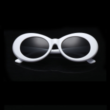 Vintage NIRVANA Kurt Cobain Round Sunglasses For Women Men Brand Designer Mirrored Glasses Retro Female Male Sun Glasses FS527