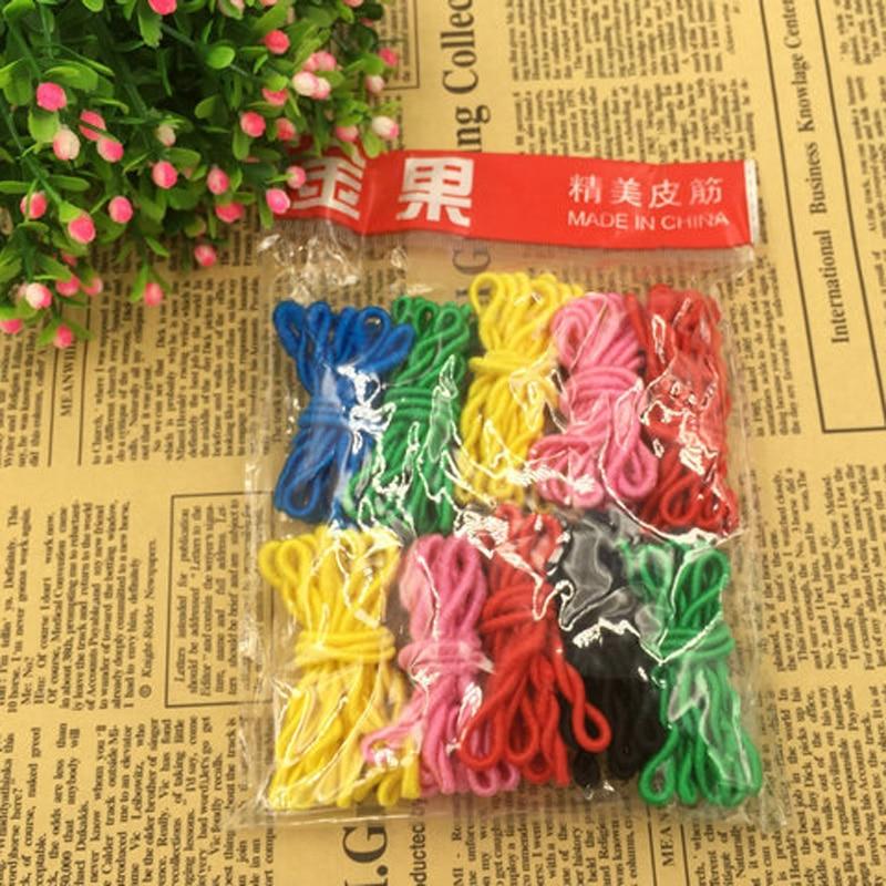 Lot 100 Pcs Colorful Child Kids Hair Holders Cute Rainbow Rubber Bands Hair Elastics Accessories Tie Gum Accessory