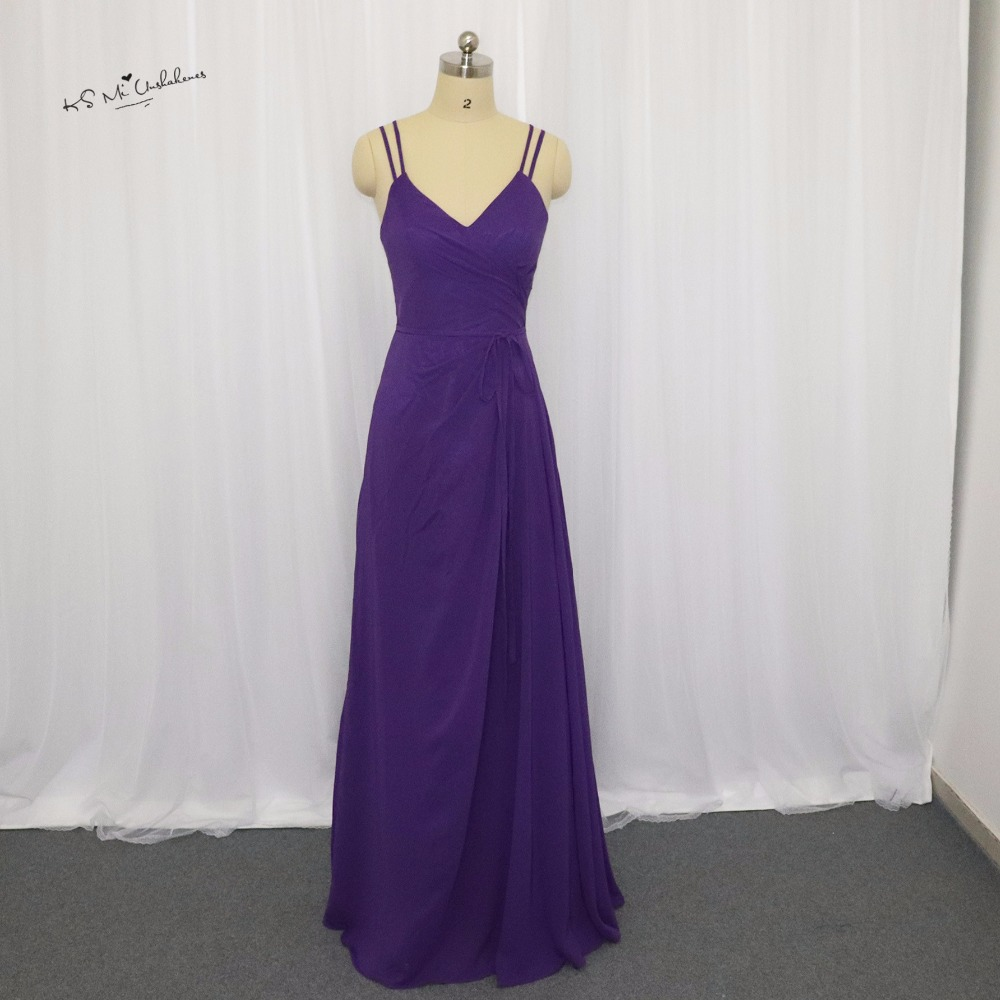 Affordable Wedding Guest Dresses: Civil Purple Bridesmaid Dresses Long Chiffon African Prom