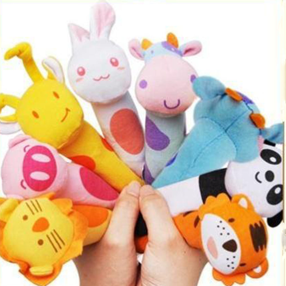 1pcs High Quality Baby Rattlles Mobiles Bb Bar Toy Animal Bell Dolls Baby Birthday Party Gift Toys For Newborn Baby Kids