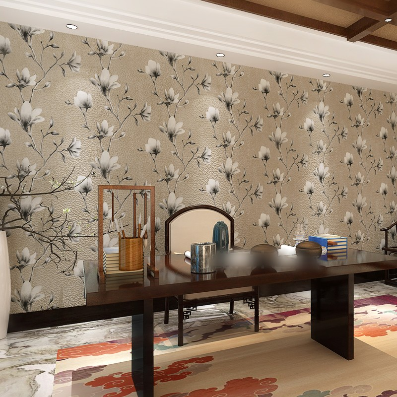 beibehang papel de parede 3d Deer skin wall paper roll wallpaper for Living Room flooring contact-paper bedroom Blue flowers beibehang modern deer skin floral flowers papel de parede 3d wallpaper for living room bedroom wall paper roll papel contact