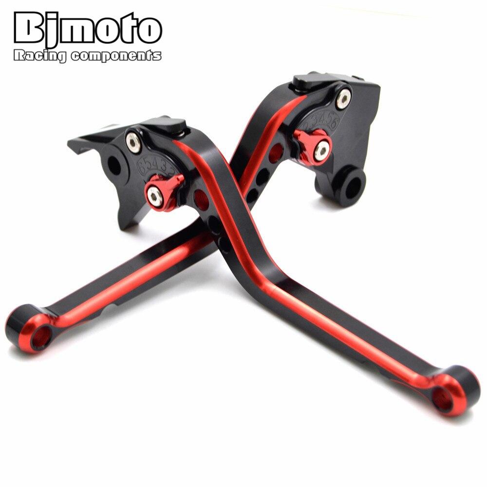 BJMOTO для Honda CBR650F CB650F 2014 - 2018 Хорнет 600 2014 Красный мотоцикл с ЧПУ Алюминиевый длинные Регулируемый тормозные рычаги сцепления