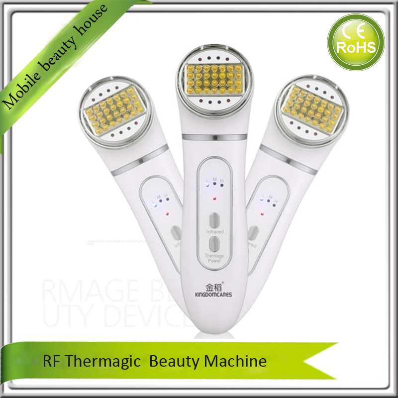 Portable Rechargeable RF Dot Matrix Radio Frequency Infrared Ray Skin Tightening Lifting Wrinkle Removal Beauty Device mini portable usb rechargeable ems rf radio frequency skin stimulation lifting tightening led photon rejuvenation beauty device