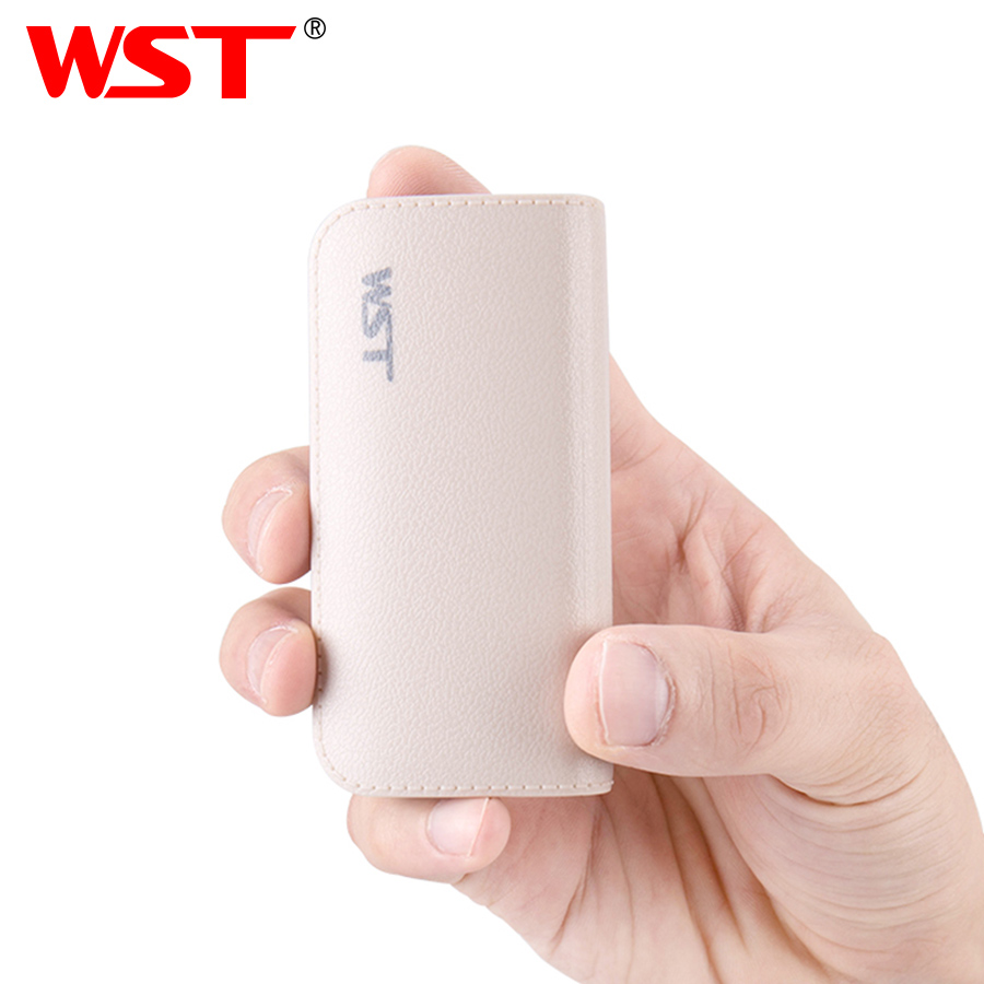 WST Portable Power Banks PoverBank Battery Pack Mobile External Battery Power Bank For iPhone 6 Samsung Phone 5200mAh Powerbank
