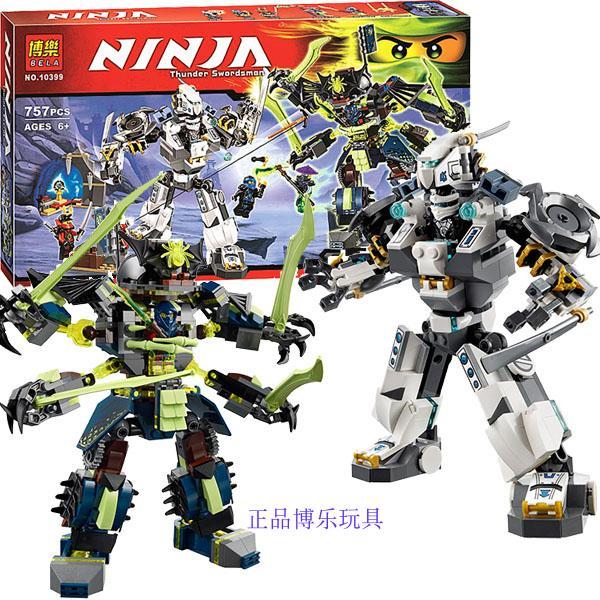 757pcs Ninja Titan Mech Battle Zane s Mech enstein Nya s Cave Model Building Blocks Kids