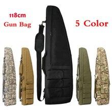 תכליתי טקטי 118CM אקדח תיק כבד אקדח להחליק פוע לשאת רובה ציד רובה אקדח כתף תיק עם הגנה כותנה