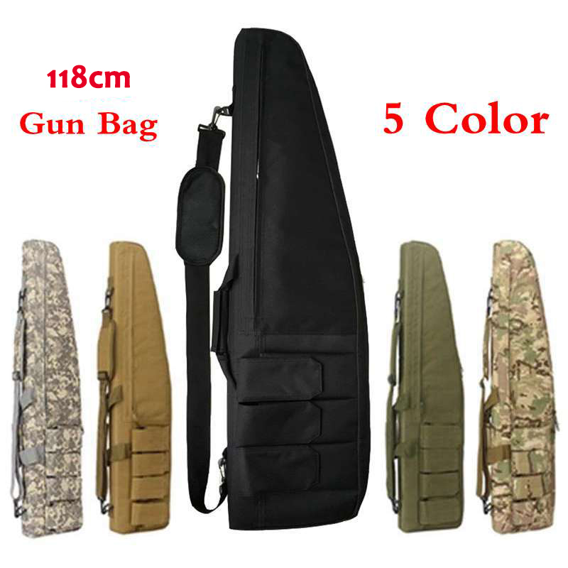 Multifunction Tactical 118CM Gun Bag Heavy Gun slip Bevel Carry Rifle Case Hunting Rifle Gun Shoulder Bag With Protection Cotton blk tree leaf sand hunting tactical rifle gun bag 1000d oxford fabric airsoft gun case shoulder bag heavy duty gun carrying bag