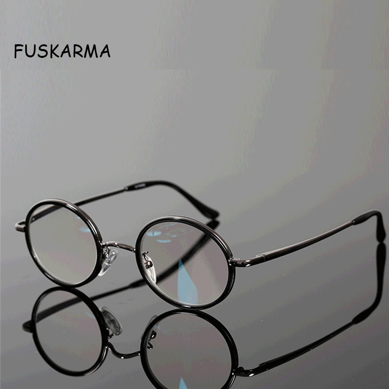 New Reading Glasses Men Women Retro Round Metal Frames Eyewear Presbyopic Eyeglasses Diopter 2.5 1.5 Vintage Eyeglasses Oculos