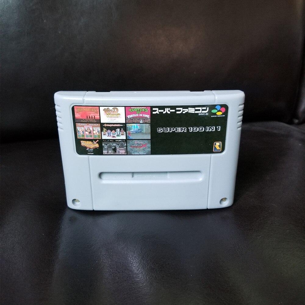 Super 100 in 1 Japan NTSC Mit Spiel Castlevania Dracula X kapitän Commando Contra III Schluss Kampf 3 Turles IV Megaman X 7