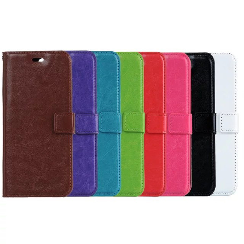 100pcs lot New Crazy horse grain wallet PU Leather case cover For Huawei P20 lite card