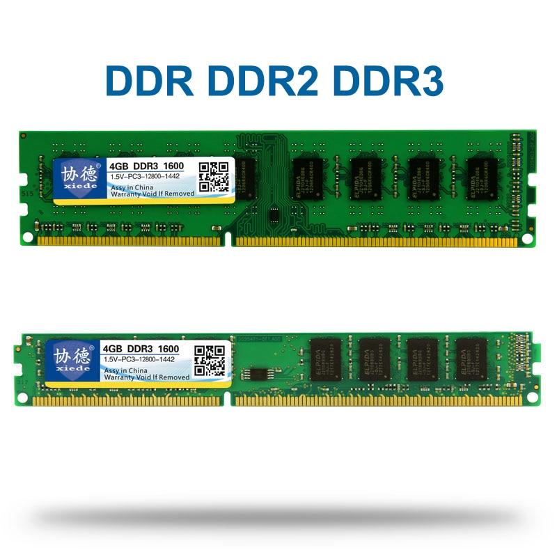 Xiede DDR 1 2 3 DDR1 DDR2 DDR3/PC1 PC2 PC3 512 MB 1 GB 2 GB 4 GB 8 GB 16 GB Computer PC Desktop Memoria RAM 1600 MHz 800 MHz 400 MHz