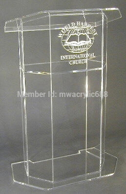Free Shipping Beautiful Easy Cheap Acrylic Podium Pulpit Lectern Podium Plexiglass