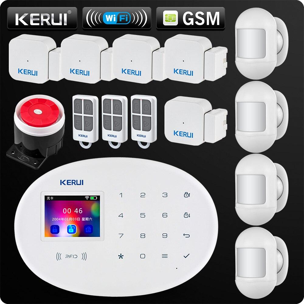 W20 Nouveau Modèle Sans Fil 2.4 pouce Écran Tactile WiFi GSM de Sécurité Système D'alarme Antivol APP RFID Carte de Contrôle Mini Mobile PIR Sirène