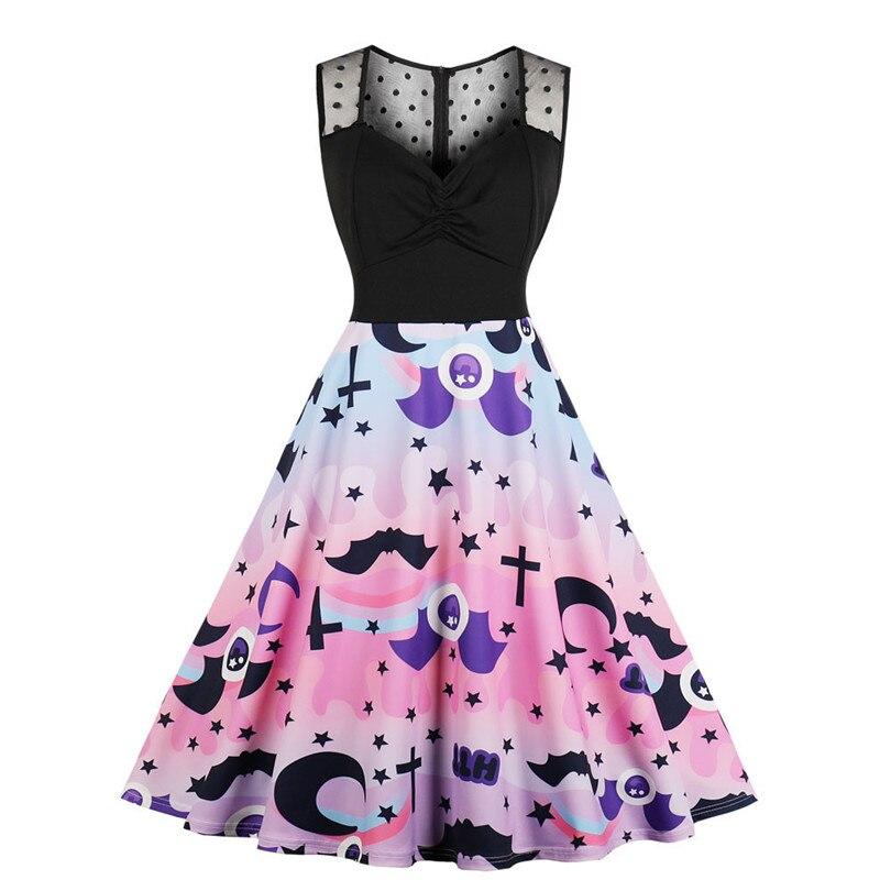 Halloween sem mangas vestido de renda o pescoço vestido de festa plus size elegante na altura do joelho vestido de festa frete grátis 40sr26
