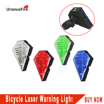 Bike Cycling flashlight 5 Modes Bicycle laser warning Light DC rechargeable Bike Taillight Bicycle Rear Bycicle Light Tail Lamp deemount rear bike light taillight safety warning bicycle light tail lamp cycling bicycle light