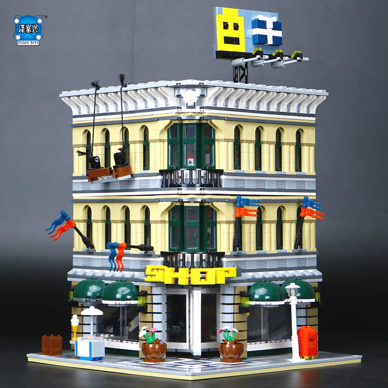 LEPINE 2232pcs City Grand Emporium Model Building Blocks Funny Educational Lovely Gifts Compatible Kits Brick Toys lepine model