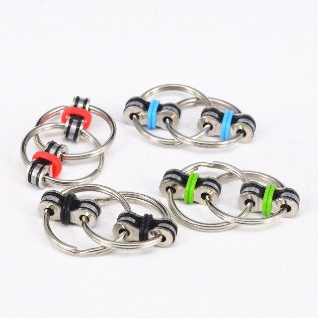 Кольцо для ключей ручной Spinner Tri-Spinner уменьшить стресс EDC Непоседа игрушки для аутизм СДВГ