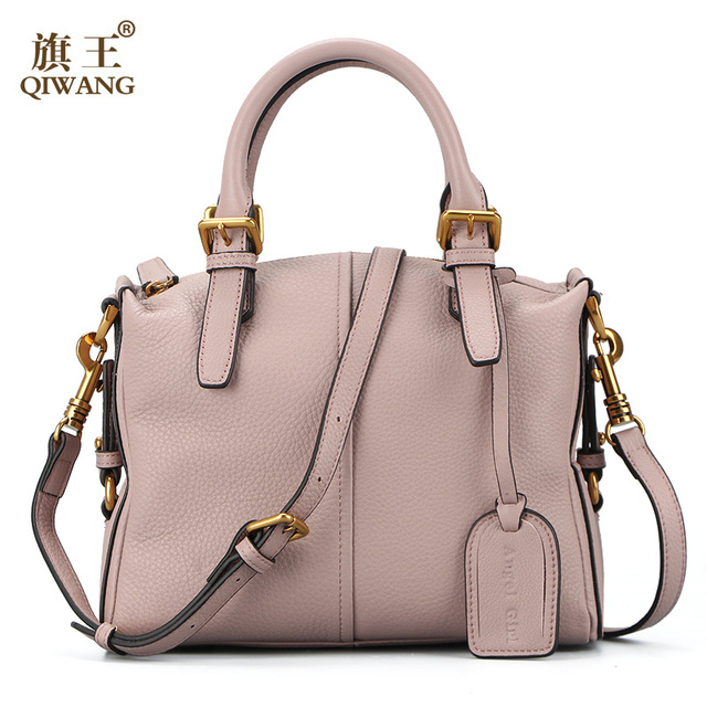 Qi 100 Genuine Leather Bag Soft Full Grain Handbags New Yonger Fashion Lady Light