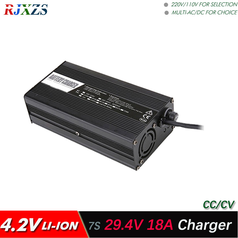 29 4V 18A charger for 7S lipo lithium Polymer Li ion battery pack smart charger support