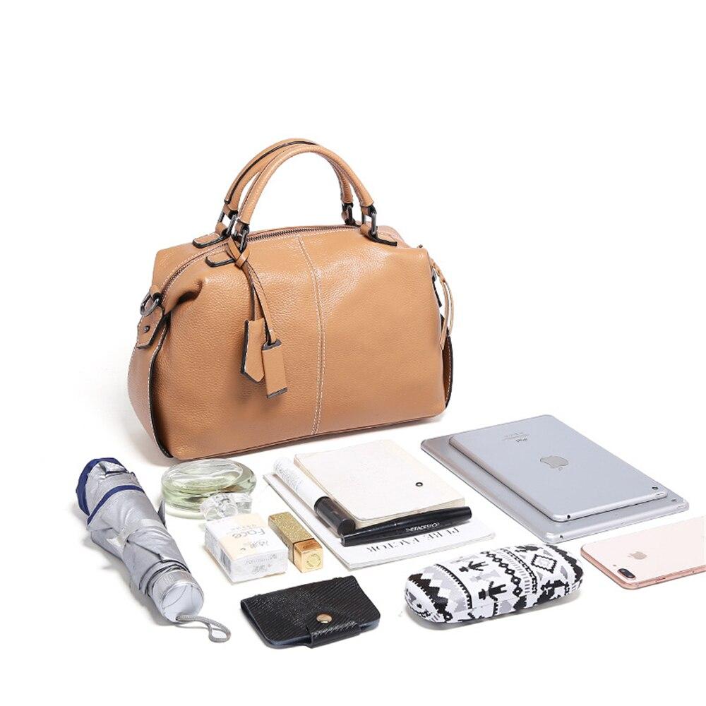 Новые Для женщин натуральная кожа сумка на молнии модные женские сумка Элитный бренд дизайн топ-ручкой для леди