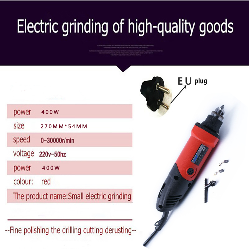 Image 2 - BDCAT 400W EU plug mini electric drill with 6 position Variable Speed Dremel Rotary Tools with mini grinding machine tools-in Grinders from Tools on