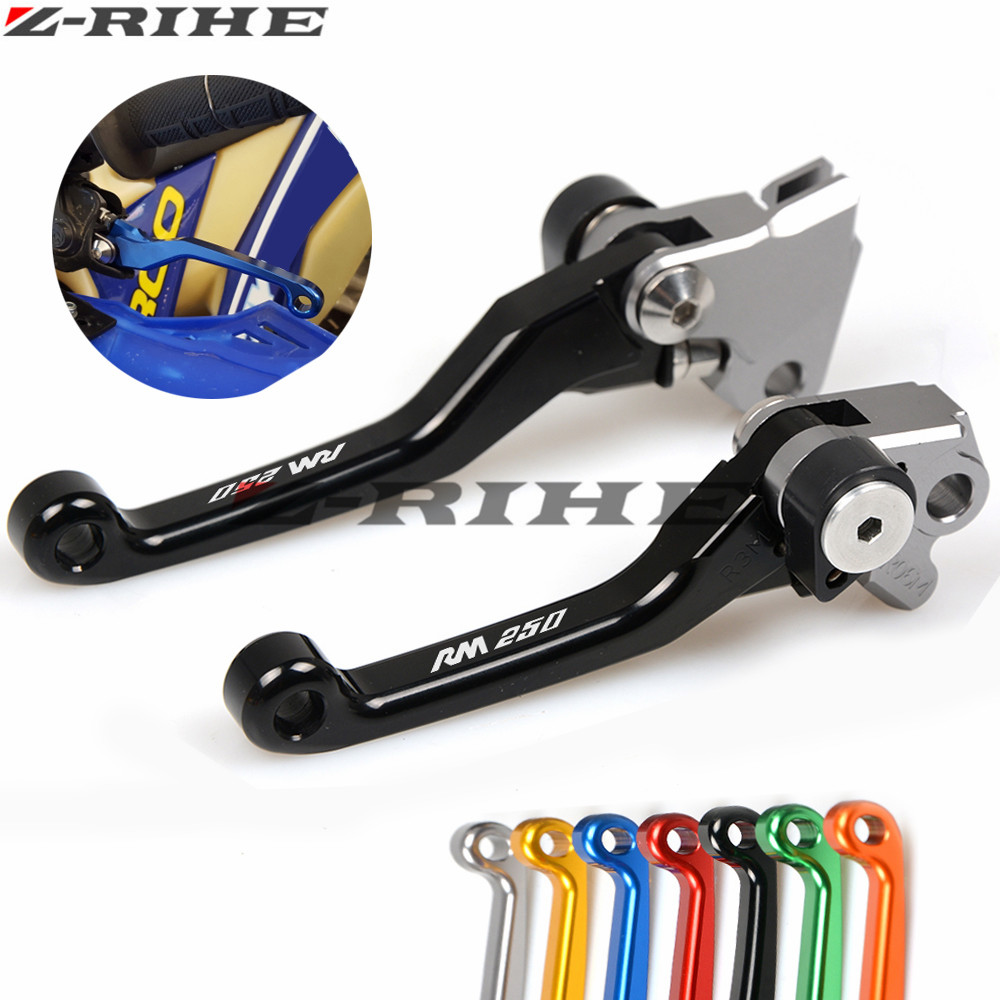 For Suzuki RM 250 2004 2005-2008 CNC Dirt Bike Clutch Brake Motocross Off Road Pivot Racing Motorcycle CNC Brake Clutch Levers dwcx motorcycle adjustable chain tensioner bolt on roller motocross for harley honda dirt street bike atv banshee suzuki chopper