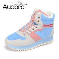 Audorci 2018 Fashion Women Winter Snow Boots Keep Warm Boots Ankle Boot Snow Work Shoes Woman