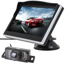 5 Дюймов TFT HD Цифровой ЖК-Экран 480×272 Цвет Заднего View Monitor + 7 ИК Огни водонепроницаемый 170 Градусов Автомобильная Камера Заднего вида