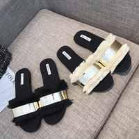 slipper 2019 Flat beach flip flops Bling summer tassels shoes zomer schoenen rhinestone sandals women korean style Fringe peep