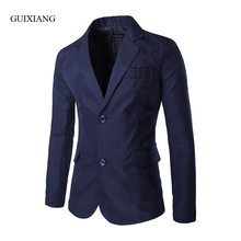 2017 Foreign trade new style men suits blazers solid fashion casual single row two button double slit slim small suit jacket