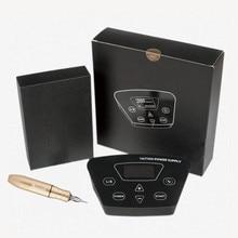 цена на Tattoo Power Supply Set Kit Tattoo Rotary Pen With Cartridges Needles Tattoo Machine Set Professional LCD Power Tattoo Supplies