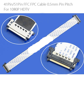 Image 1 - 41/51Pin FFC FPC Cable 0.5mm Pin Pitch 1080P 4k HDTV 41P 51P FFC flexible flat cable Length 500mm 41Pin 51Pin double end