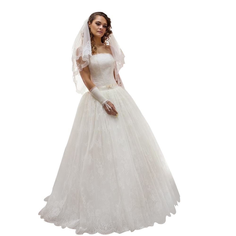 ZYLLGF Bridal Affordable Ball Gown Strapless Lace Women Wedding ...
