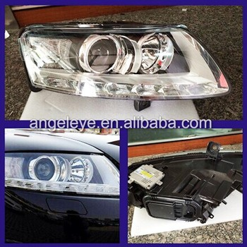 For Audi A6L LED head lamp 2005 - 2011 year LED headlight with D3S HID kit