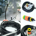 15m Garden Irrigation Patio Misting 20 Micro Dripper Kit Mist Spray Nozzles Watering System
