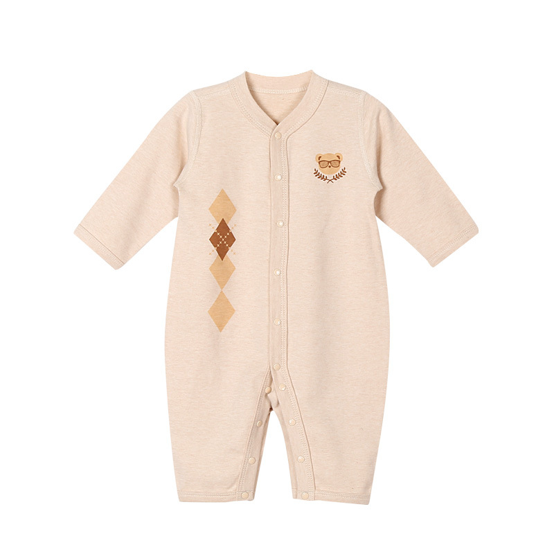 Newborn Baby Boy Autumn Winter Long Sleeve Rompers Jumpsuit Clothes Infant Toddler Baby Boy Girl Organic Cotton Rompers Onesie newborn infant baby boy girl cotton romper jumpsuit boys girl angel wings long sleeve rompers white gray autumn clothes outfit