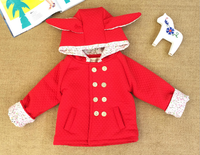 Girls Winter Cotton Padded Clothes Double Layer Thickening And Pile Cap Children Winter Jacket Coat