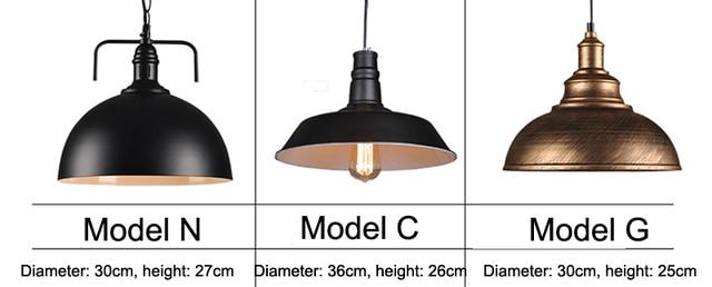 Nordic Industrial Vintage Pendant Lights