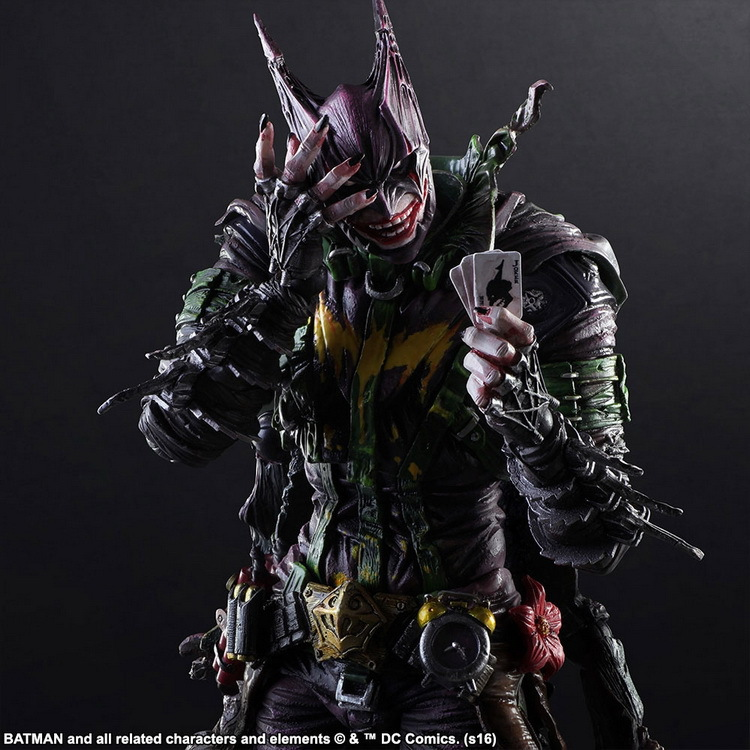 Batman Joker Play Arts Kai Rogues Gallery The Joker PVC Action Figure Anime Toy 260mm Bat Man Playarts Kai цена
