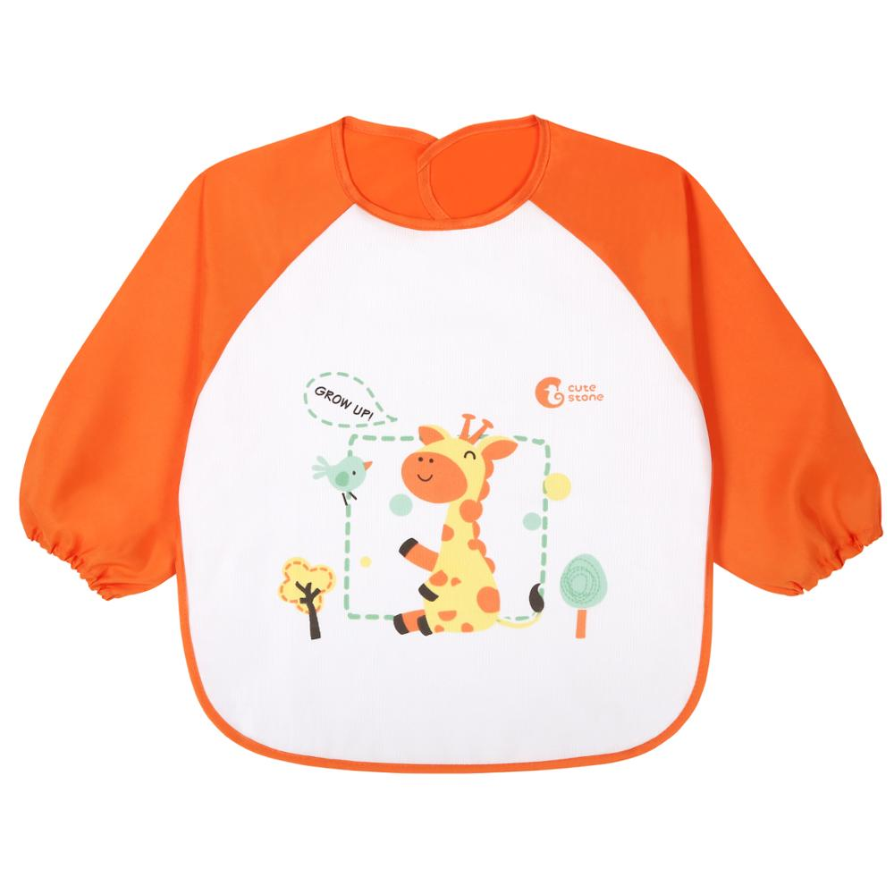 Toddlers Long Sleeves Bib//Apron to Wipe /& Clean for Kids Perfect for Paint//Craft