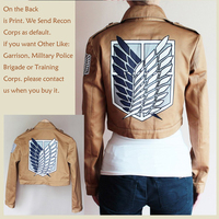 Attack on Titan Shingeki no Kyojin Scouting Legion Allen Yeager Cosplay Jacket for Mens Boys Girls Costume