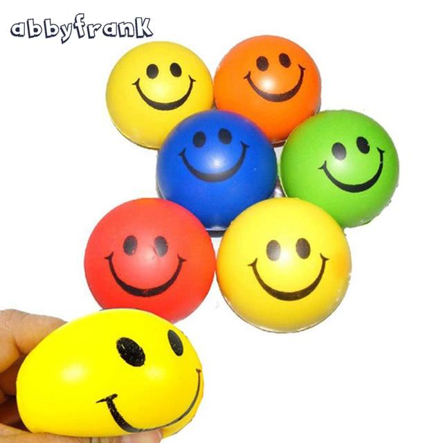 abbyfrank 6 pçs set estresse bola aperte bola sorriso rosto imprimir