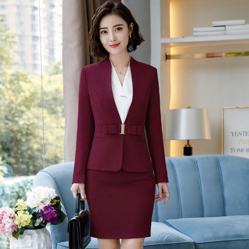 IZICFLY Formal Office Dress Set For Womens Blazers Long Sleeve Uniform Elegant Feminino Business Jacket Dress Suit Plus Size 4XL